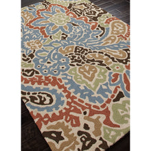 Load image into Gallery viewer, Jaipur Rugs IndoorOutdoor Abstract Pattern Blue/Red Polypropylene Area Rug BA04 (Rectangle)