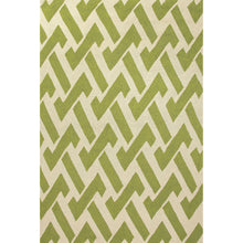 Load image into Gallery viewer, Jaipur Rugs Indoor-Outdoor Geometric Pattern Green/Ivory Polypropylene Area Rug