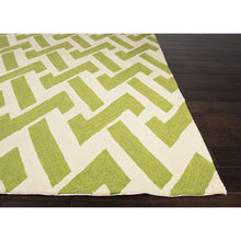 Load image into Gallery viewer, Jaipur Rugs IndoorOutdoor Geometric Pattern Green/Ivory Polypropylene Area Rug BA29 (Rectangle)