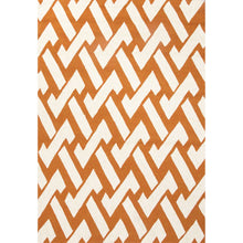 Load image into Gallery viewer, Jaipur Rugs Indoor-Outdoor Geometric Pattern Orange /Ivory Polypropylene Area Rug