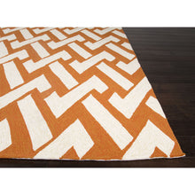 Load image into Gallery viewer, Jaipur Rugs IndoorOutdoor Geometric Pattern Orange /Ivory Polypropylene Area Rug BA31 (Rectangle)