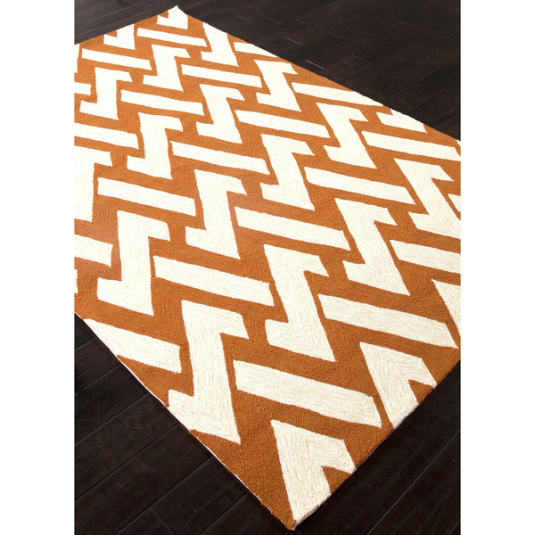 Jaipur Rugs Indooroutdoor Geometric Pattern Orange Ivory