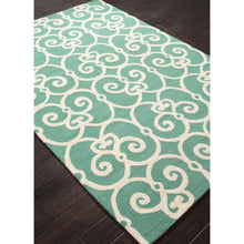 Load image into Gallery viewer, Jaipur Rugs IndoorOutdoor Geometric Pattern Blue/Ivory Polypropylene Area Rug BA34 (Rectangle)