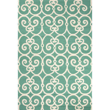 Load image into Gallery viewer, Jaipur Rugs Indoor-Outdoor Geometric Pattern Blue/Ivory Polypropylene Area Rug