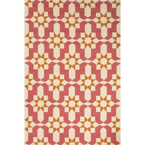 Jaipur Rugs Indoor-Outdoor Moroccan Pattern Pink/Ivory Polypropylene Area Rug