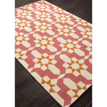 Load image into Gallery viewer, Jaipur Rugs IndoorOutdoor Moroccan Pattern Pink/Ivory Polypropylene Area Rug BA35 (Rectangle)