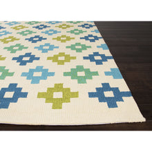 Load image into Gallery viewer, Jaipur Rugs IndoorOutdoor Tribal Pattern Blue/Green Polypropylene Area Rug BA37 (Rectangle)