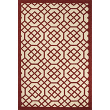 Load image into Gallery viewer, Jaipur Rugs Indoor-Outdoor Geometric Pattern Red/Ivory Polypropylene Area Rug