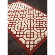 Load image into Gallery viewer, Jaipur Rugs IndoorOutdoor Geometric Pattern Red/Ivory Polypropylene Area Rug BA40 (Rectangle)