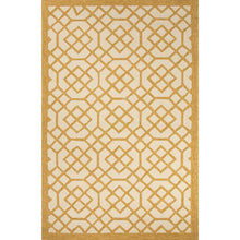 Load image into Gallery viewer, Jaipur Rugs Indoor-Outdoor Geometric Pattern Yellow/Ivory Polypropylene Area Rug
