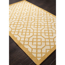 Load image into Gallery viewer, Jaipur Rugs IndoorOutdoor Geometric Pattern Yellow/Ivory Polypropylene Area Rug BA42 (Rectangle)