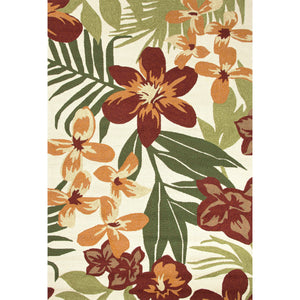 Jaipur Rugs Indoor-Outdoor Floral Pattern Red/Orange Polypropylene Area Rug