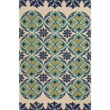 Load image into Gallery viewer, Jaipur Rugs Indoor-Outdoor Tribal Pattern Blue/Green Polypropylene Area Rug