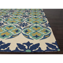 Load image into Gallery viewer, Jaipur Rugs IndoorOutdoor Tribal Pattern Blue/Green Polypropylene Area Rug BA45 (Rectangle)