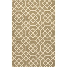 Load image into Gallery viewer, Jaipur Rugs Indoor-Outdoor Geometric Pattern Taupe/Ivory Polypropylene Area Rug