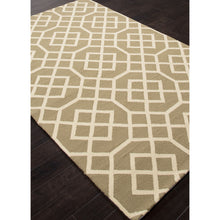 Load image into Gallery viewer, Jaipur Rugs IndoorOutdoor Geometric Pattern Taupe/Ivory Polypropylene Area Rug BA48 (Rectangle)