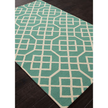 Load image into Gallery viewer, Jaipur Rugs IndoorOutdoor Geometric Pattern Blue/Ivory Polypropylene Area Rug BA49 (Rectangle)