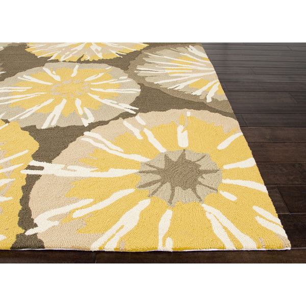 Jaipur Rugs Indooroutdoor Abstract Pattern Yellow Gray