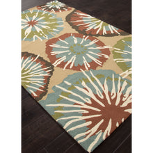 Load image into Gallery viewer, Jaipur Rugs IndoorOutdoor Abstract Pattern Taupe/Blue Polypropylene Area Rug BA57 (Rectangle)