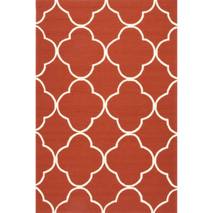 Jaipur Rugs Indoor-Outdoor Geometric Pattern Red Polypropylene Area Rug