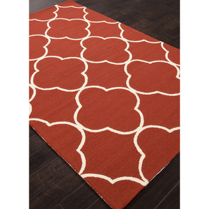 Jaipur Rugs IndoorOutdoor Geometric Pattern Red Polypropylene Area Rug BA66 (Rectangle)