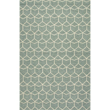 Load image into Gallery viewer, Jaipur Rugs Indoor-Outdoor Geometric Pattern Blue/Green Polypropylene Area Rug