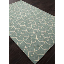 Load image into Gallery viewer, Jaipur Rugs IndoorOutdoor Geometric Pattern Blue/Green Polypropylene Area Rug BA67 (Rectangle)