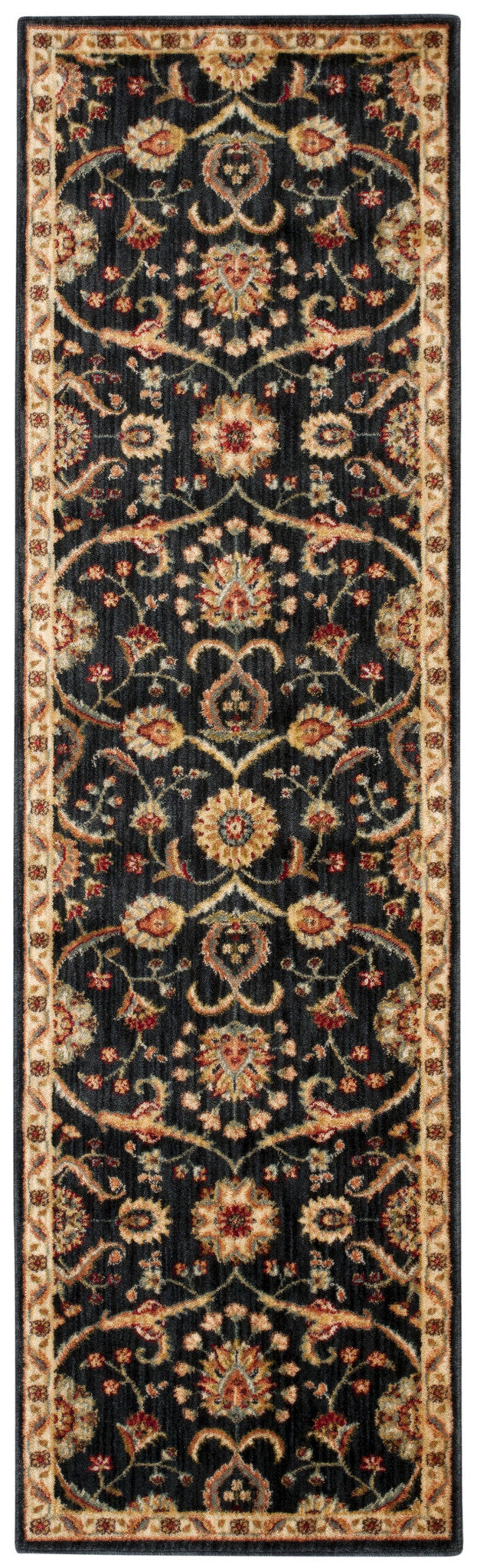Kathy Ireland Ancient Times Persian Treasure Black Area Rug By Nourison BAB01 BLK
