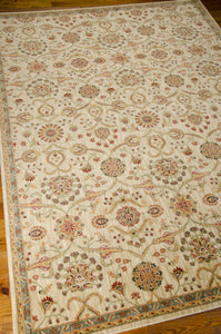 Kathy Ireland Ancient Times Persian Treasure Ivory Area Rug By Nourison BAB01 IV
