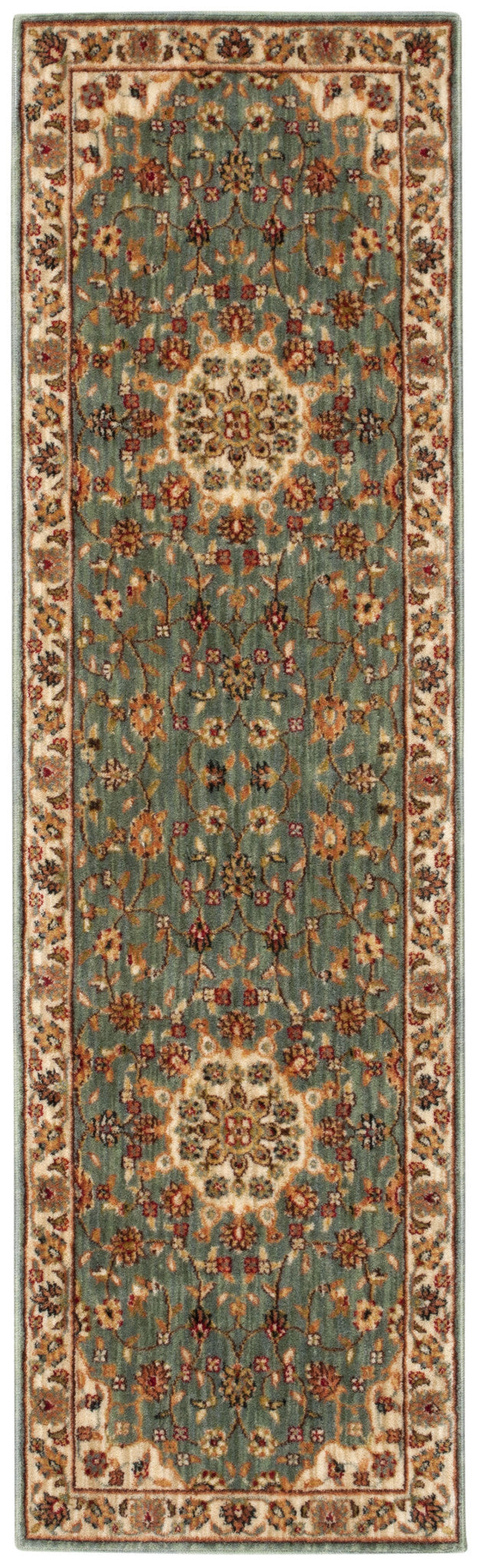 Kathy Ireland Ancient Times Palace Teal Area Rug By Nourison BAB02 TL