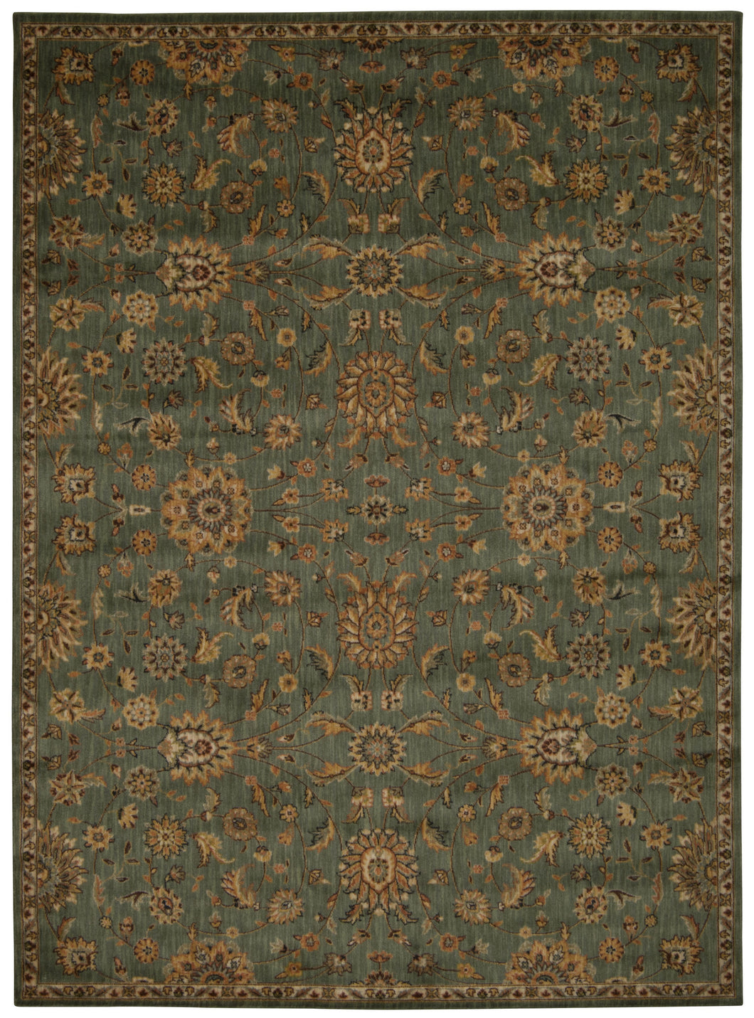 Kathy Ireland Ancient Times Ancient Treasures Teal Area Rug By Nourison BAB05 TL