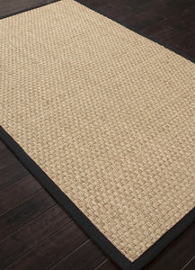 Jaipur Rugs Naturals Naturals Pattern Ivory/Black Seagrass Area Rug BAS02 (Rectangle)