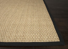 Load image into Gallery viewer, Jaipur Rugs Naturals Naturals Pattern Ivory/Black Seagrass Area Rug BAS02 (Rectangle)