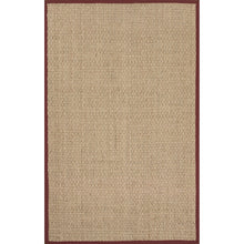 Load image into Gallery viewer, Jaipur Rugs Naturals Naturals Pattern Ivory/Red Seagrass Area Rug