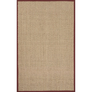 Jaipur Rugs Naturals Naturals Pattern Ivory/Red Seagrass Area Rug