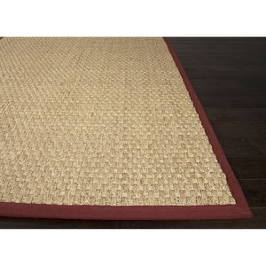 Jaipur Rugs Naturals Naturals Pattern Ivory/Red Seagrass Area Rug BAS03 (Rectangle)