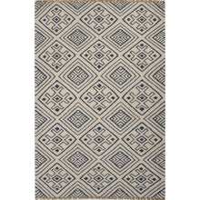 Load image into Gallery viewer, Jaipur Rugs Flat-Weave Tribal Pattern Blue/Ivory Wool Area Rug