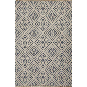 Jaipur Rugs Flat-Weave Tribal Pattern Blue/Ivory Wool Area Rug