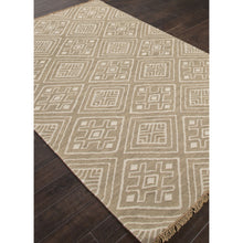 Load image into Gallery viewer, Jaipur Rugs FlatWeave Tribal Pattern Taupe/Ivory Wool Area Rug BAT02 (Rectangle)
