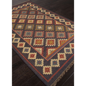 Jaipur Rugs FlatWeave Tribal Pattern Black/Multi Jute Area Rug BD22 (Rectangle)