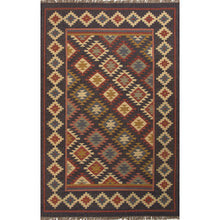 Load image into Gallery viewer, Jaipur Rugs Flat-Weave Tribal Pattern Black/Multi Jute Area Rug