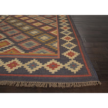 Load image into Gallery viewer, Jaipur Rugs FlatWeave Tribal Pattern Black/Multi Jute Area Rug BD22 (Rectangle)