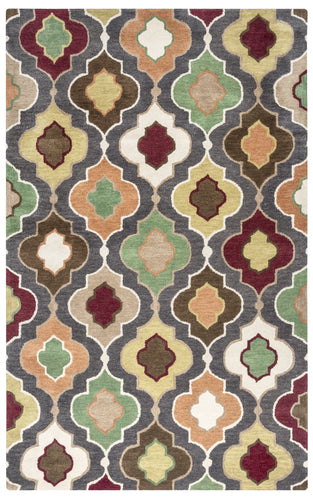 Rizzy Home Bradberry Downs BD8603 Warm Gray Trellis Area Rug