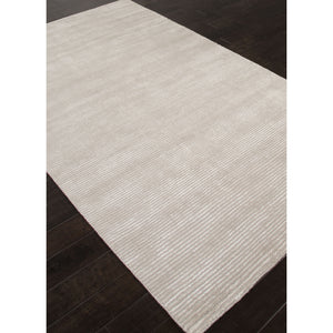 Jaipur Rugs Handloom Solid Pattern Gray Wool and Art Silk Area Rug BI03 (Rectangle)