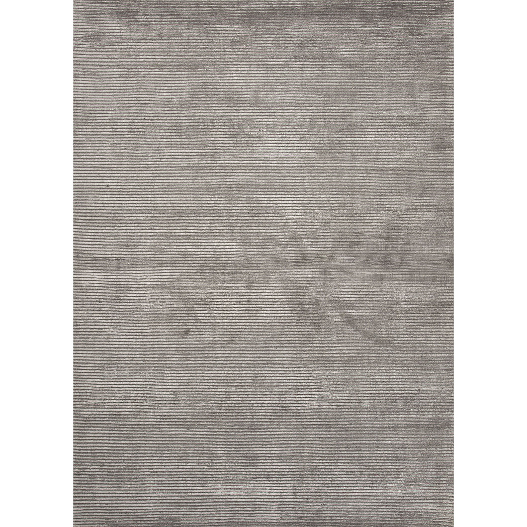 Jaipur Rugs Handloom Solid Pattern Gray Wool and Art Silk Area Rug