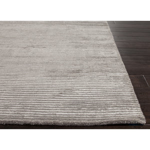 Jaipur Rugs Handloom Solid Pattern Gray Wool and Art Silk Area Rug BI05 (Rectangle)