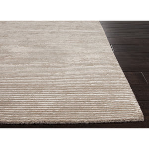Jaipur Rugs Handloom Solid Pattern Taupe/Tan Wool and Art Silk Area Rug BI07 (Rectangle)