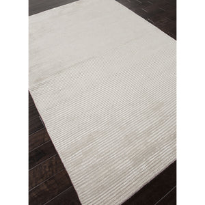 Jaipur Rugs Handloom Solid Pattern Ivory/White Wool and Art Silk Area Rug BI10 (Rectangle)