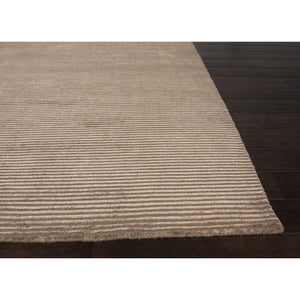 Jaipur Rugs Handloom Solid Pattern Taupe/Tan Wool and Art Silk Area Rug BI14 (Rectangle)