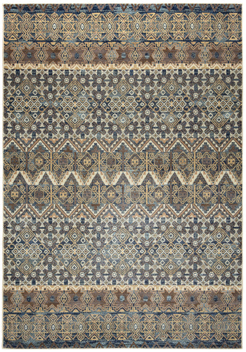 Rizzy Home Bennington BI4649 Gray Print Area Rug